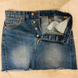 H&M Denim Jean cutoff skirt- Size 6
